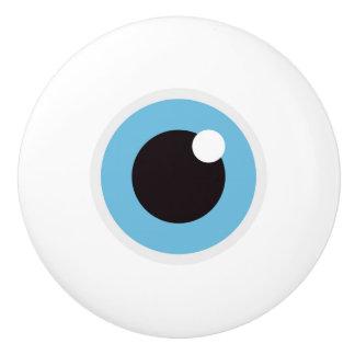 Bouton De Porte En Céramique Globe oculaire - nouveauté drôle