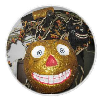 Bouton De Porte En Céramique Grimacerie du visage