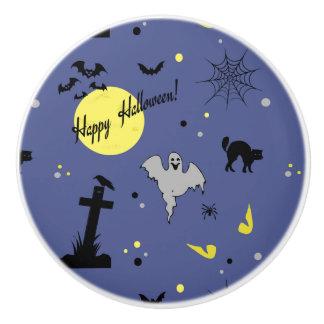 Bouton De Porte En Céramique Halloween heureux