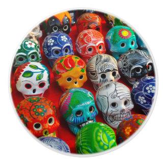 Bouton De Porte En Céramique Jour des crânes morts de sucre