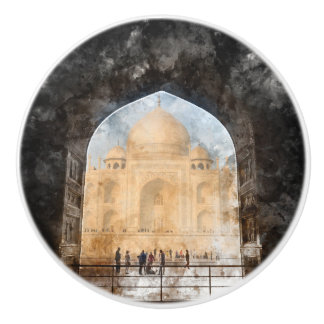 Bouton De Porte En Céramique Le Taj Mahal à Âgrâ Inde