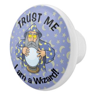 Bouton De Porte En Céramique Magicien avec la boule