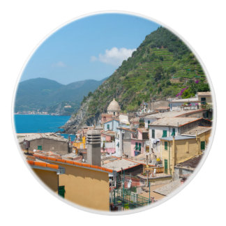 Bouton De Porte En Céramique Maisons colorées dans Cinque Terre Italie