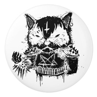 Bouton De Porte En Céramique Métal de chat