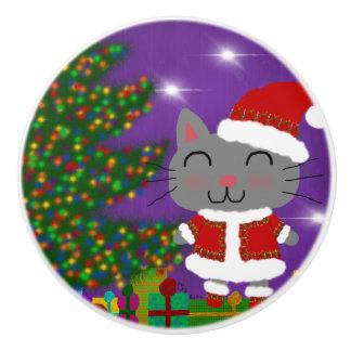Bouton De Porte En Céramique Noël de Meowy