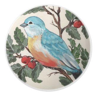 Bouton De Porte En Céramique Oiseau bleu de Cabinet de porte de tiroir de