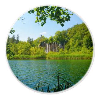 Bouton De Porte En Céramique Parc national de lacs Plitvice en Croatie