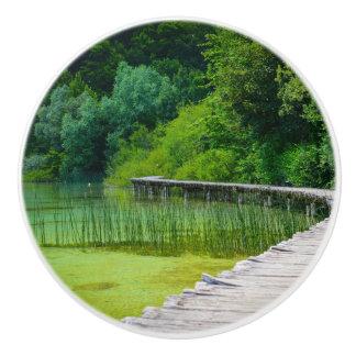 Bouton De Porte En Céramique Parc national de Plitvice dans des sentiers de