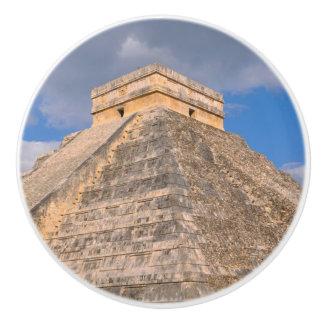 Bouton De Porte En Céramique Ruines de Chichen Itza au Mexique