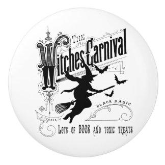 Bouton De Porte En Céramique Sorcière vintage de Halloween