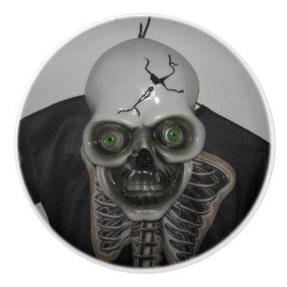 Bouton De Porte En Céramique Squelette