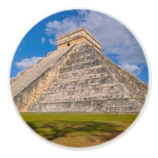 Bouton De Porte En Céramique Temple maya de Chichen Itza au Mexique