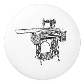 Bouton De Porte En Céramique Traction en céramique - thème de couture vintage,