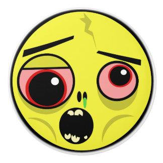 Bouton De Porte En Céramique Visage de zombi