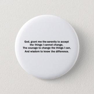 Bouton de prière de sérénité badge rond 5 cm