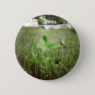 Bouton de trèfle de trois feuilles badge rond 5 cm