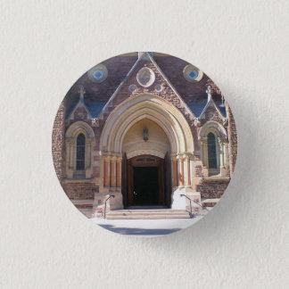Bouton de vue de rue d'église badge rond 2,50 cm
