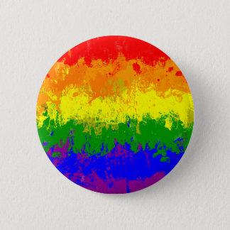Bouton d'éclaboussure de peinture de drapeau badge rond 5 cm