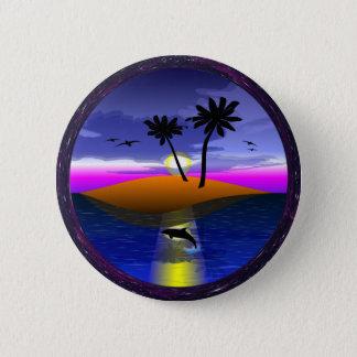 Bouton d'île de dauphin badge rond 5 cm