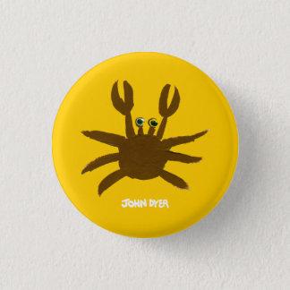 Bouton d'insigne d'art : Crabe fou de plage de Badge Rond 2,50 Cm