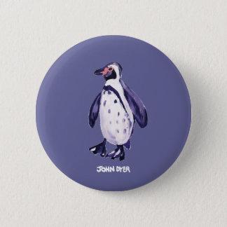 Bouton d'insigne d'art : Pingouin de pourpre de Badge Rond 5 Cm
