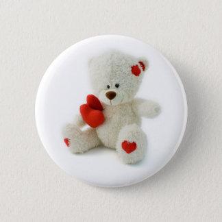 Bouton d'ours de nounours de Saint-Valentin Badge Rond 5 Cm