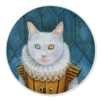 """Bouton en céramique """"de chat de la Renaissance"""""""