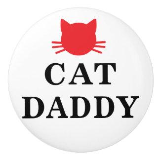 Bouton en céramique de papa de chat