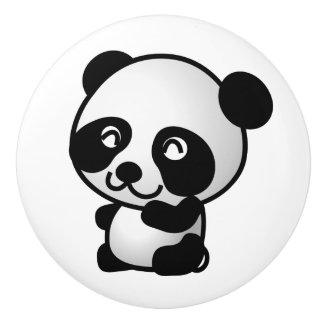 Bouton en céramique. Panda