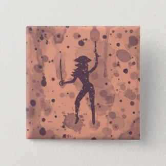 Bouton femelle de pirate badge carré 5 cm