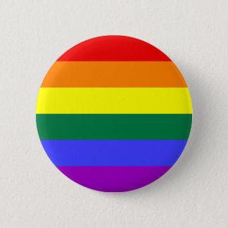 Bouton gai d'arc-en-ciel badge rond 5 cm