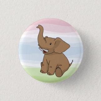 Bouton heureux d'éléphant de Brown Badge Rond 2,50 Cm