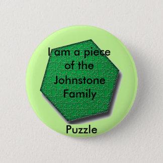 Bouton - je suis un morceau du puzzle de famille badge rond 5 cm