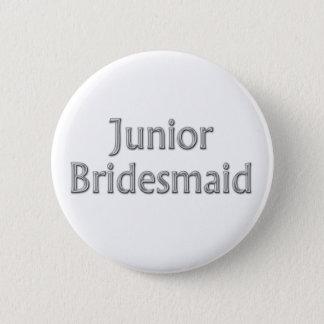 Bouton junior de mariage de demoiselle d'honneur badge rond 5 cm