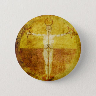 Bouton médiéval d'icône de Magik Badge Rond 5 Cm