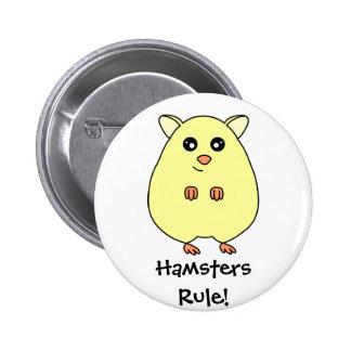 Bouton mignon de règle de hamsters de bande dessin badge rond 5 cm