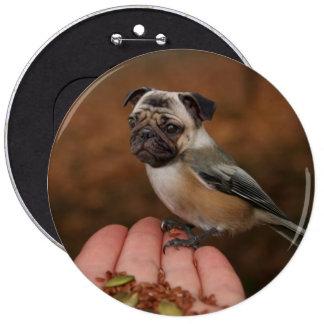 Bouton mignon d'oiseau de carlin badges