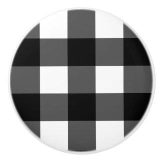 Bouton noir et blanc de meubles de contrôle de