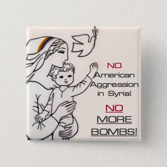 Bouton pacifiste de la Syrie Badge Carré 5 Cm