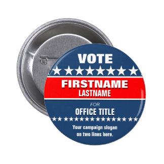 Bouton politique fait sur commande badge rond 5 cm