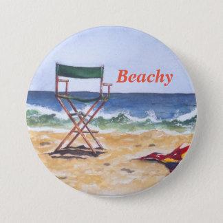 """Bouton """"pour la plage""""/Pin Badge Rond 7,6 Cm"""