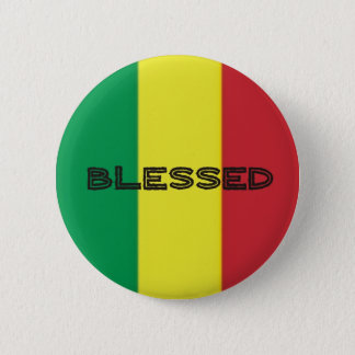 Bouton Rastafari-Segen 3 Badge Rond 5 Cm