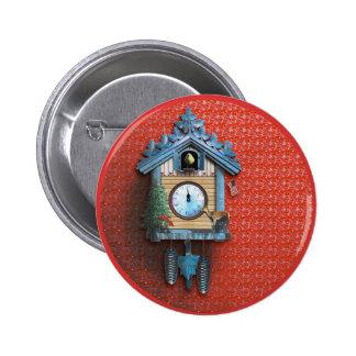 Bouton rond de pouce de ¼ de l'horloge de coucou badge rond 5 cm