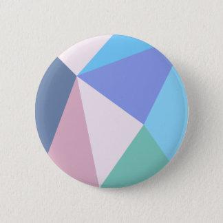Bouton rond de triangle moderne de couleur en badge rond 5 cm