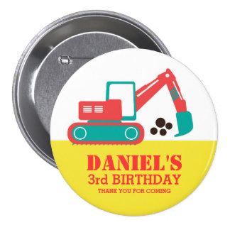 Bouton rouge jaune d'anniversaire de enfant badges avec agrafe