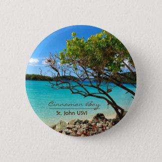 Bouton tropical de Pin de St John USVI de baie de Badge Rond 5 Cm