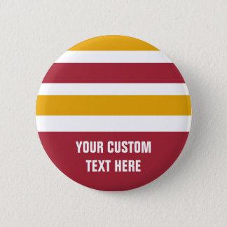 Boutons de coutume de motif de rayures badge rond 5 cm