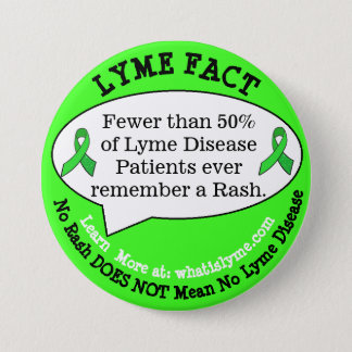 Boutons de fait de la maladie de Lyme pour des Badge Rond 7,6 Cm
