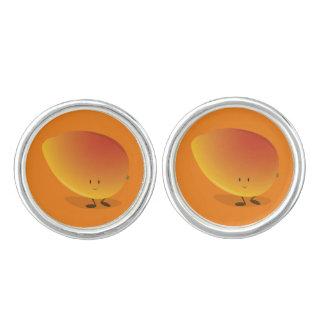 Boutons De Manchette Caractère de sourire de mangue