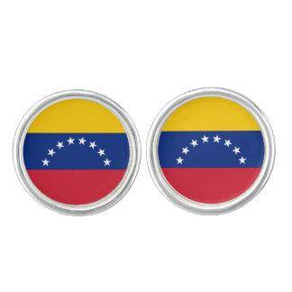 Boutons De Manchette Drapeau du Venezuela
